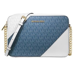Michael Kors Tricolor Signature East West Crossbod